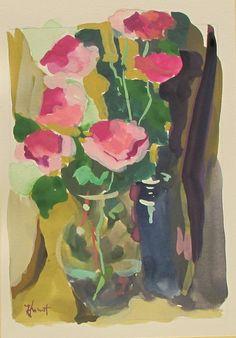 Gouache - Linda Hunt Fine Art Flower Art, Art Flowers, Gouache, Artsy Fartsy, Flower Power, Still Life, Abstract Art, Bloom, Crafty