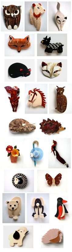 Lea Stein brooches