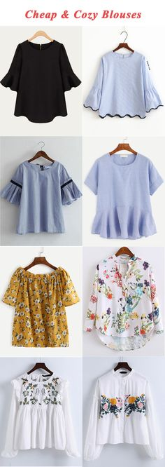 Cheap and cozy blouses