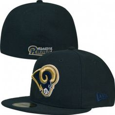 cace9031c95 St. Louis Rams New Era NFL 59Fifty Fitted Hat (Black) Los Angeles Rams