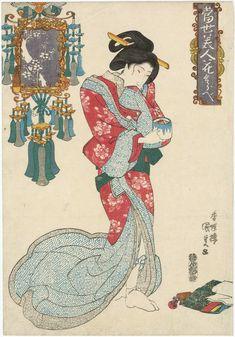 Utagawa Kunisada: from the series Contest of Modern Beauties and Flowers (Tôsei bijin hana kurabe) - Museum of Fine Arts