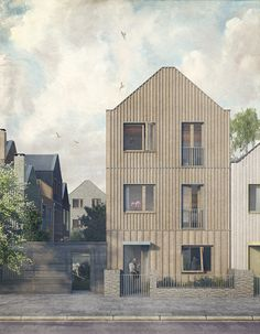 Mæ office journal -our MyHouse project, after Vermeer's street in Delft currently on show at the Royal Academy of Arts