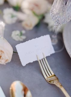 hand lettered wedding place cards Ashley Rae Photography