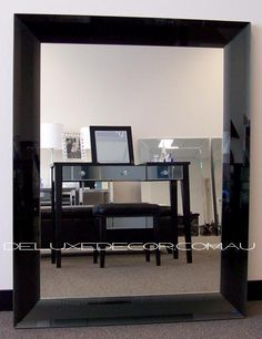 Concave Black Triple Bevel Frame Wall Mirror 4528B (1150 x 900 mm) http://deluxedecor.com.au/products-page/large-wall-mirrors/concave-black-triple-bevel-frame-wall-mirror-4528b-1150-x-900-mm/