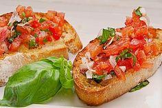 Bruschetta mit Tomaten und Knoblauch 1