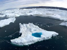 <p>Photo: Iceberg with meltwater pool</p>