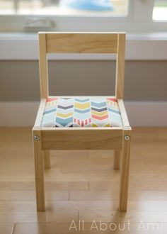 { DIY } ikea lätt hack: add upholstered cushion to these kids chairs