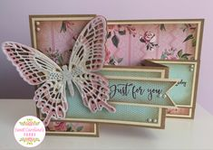 Made using the Beautful butterfly collection from Crafters Companion Special Birthday Cards, Birthday Cards For Men, Handmade Birthday Cards, Happy Birthday, Z Cards, Paper Cards, Fancy Fold Cards, Folded Cards, Handmade Greetings
