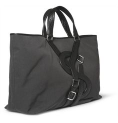 Yves Saint LaurentLogo-Strap Canvas and Leather Tote Bag 900