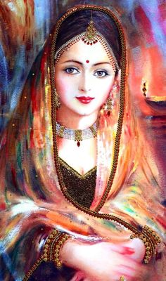 Indian paintings have a very long tradition and history in Indian art. There are more than 20 types of painting styles available in india. Indian Women Painting, Indian Art Paintings, Indian Artist, Tanjore Painting, Krishna Painting, Krishna Art, Holi Painting, Painting Portraits, Art Sketches