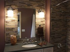 Mood Lighting + Natural Mosaic Tile