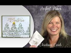 VIDEO: Perfect Pines Christmas Card | Stampin Up Demonstrator - Tami White - Stamp With Tami Crafting and Card-Making Stampin Up blog