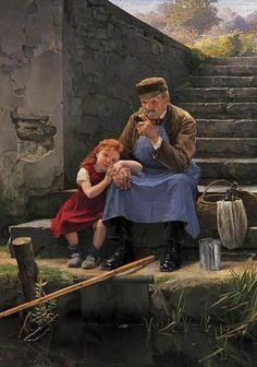 Charles Bertrand d'Entraygues (French artist, 1851-1914), Lesson in Patience