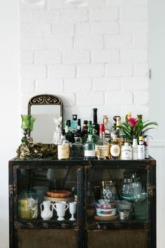 This makeshift bar isn't even the best part about these apartment photos