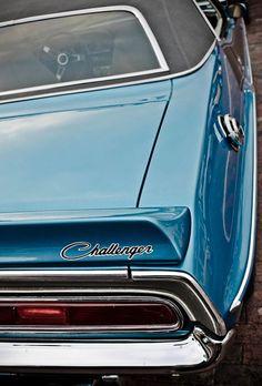 Blue Dodge Challenger 1970s Vintage Convertible Car 8x10 Fine Art Photograph