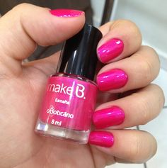 esmalte-da-semana-make-b-fuchsia-purple-rosa-verão-2013-2