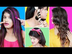 BRILLIANT HAIR HACKS & TRICKS For Girls & Teenagers | लड़कियों के लिए स्मार्ट बालों के Hacks और Tips - YouTube Girl Tips, Every Girl, Looking Gorgeous, Hair Hacks, Teenagers, Youtube, Queen, Hair Styles, Diy