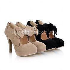 Scarpe Donna - Scarpe col tacco - Ufficio e lavoro / Formale - Tacchi / Plateau - A stiletto - Scamosciato - Nero - USD $ 27.99