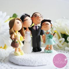 Personalizado do bolo de casamento com lindas por TheRosemarryToppers