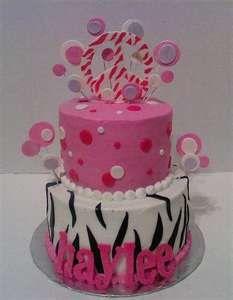 cute peace sign birthday cake
