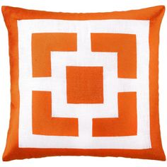 Trina Turk Palm Springs Blocks Orange Embroidered Linen Pillow and other furniture & decor products. Browse and shop related looks. Orange Throw Pillows, Modern Throw Pillows, Linen Pillows, Decorative Throw Pillows, Bright Pillows, Couch Pillows, Accent Pillows, Cushions, Designer Pillow