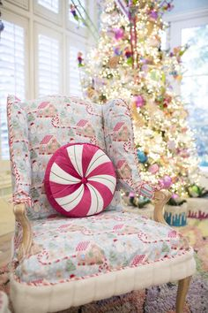 Come check out The Candy Land Christmas Family Room Part 3 and learn how do add a fun new pop to your room with slip covers and tutus!