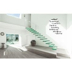 The Road Less Traveled quote Wall Art Sticker Decal inches x 30 inches), Black Die Straße reiste weniger. Home Design, Home Stairs Design, Modern Stairs Design, Design Ideas, Interior Modern, Home Interior, Interior Designing, Modern Interiors, Wall Art Quotes