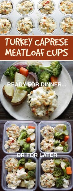 These Healthy Turkey Meatloaf Cups Are Perfect For Meal Prep 2019 Perfect for packed work lunches. Oh and theres cheese involved. The post These Healthy Turkey Meatloaf Cups Are Perfect For Meal Prep 2019 appeared first on Lunch Diy. Healthy Meal Prep, Healthy Eating, Healthy Recipes, Healthy Lunches, Clean Eating, Ground Turkey Recipes, Ground Turkey Meal Prep, Bariatric Recipes, Food Dishes