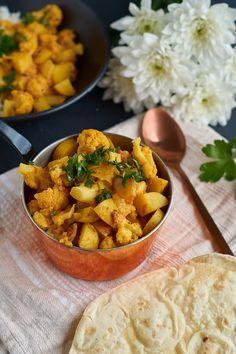 Rezept für Aloo Gobi Masala - ein indisches Curry mit Kartoffeln und Blumenkohl…