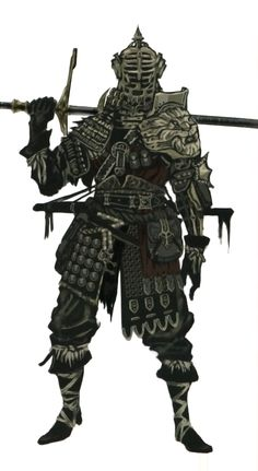 Eastern armor set concept art from Dark Souls: prepare to die edition