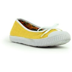 Mustard Bow Flats MyHotShoes.com via Polyvore