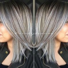 Amazing grey/silver salt and pepper highlights!