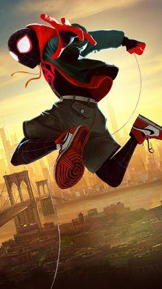 Black Spiderman, Spiderman Art, Spider Verse, Miles Morales Spiderman, Anatomy Sculpture, Man Sketch, K Wallpaper, Dope Wallpapers, Anime Drawings Sketches