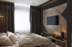 Bed room on Behance Tv In Bedroom, Master Room, Modern Bedroom, Bedroom Decor, Bed Room, Bedroom Inspo, Design Case, Bed Design, Home Decor Furniture