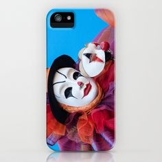 Portrait of Clown with Mask iPhone & iPod Case