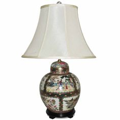 Shop for Ginger Jar Rose Famille Porcelain Table Lamp. Get free delivery On EVERYTHING* Overstock - Your Online Lamps & Lamp Shades Store! Beige Bedrooms, Chinese Lamps, Ginger Jars, Table Lamps, Home Living Room, Colonial, Furniture Sets, Beautiful Homes, Porcelain