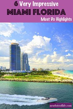 Miami Florida Highlights and Guide tot he best of Miami. What to do in Miami, What to see in Miami. Where to stay in Miami and food to eat. Visit Florida, Florida Travel, Miami Florida, Florida Beaches, Florida Vacation, Usa Travel, Cruise Travel, Travel Guides, Travel Tips
