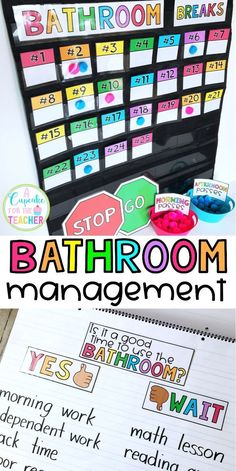 Bathroom Rules & Management Kit (EVERYTHING You Need!) - Bathroom management ideas for the classroom! Rules and expectations, anchor charts, ways to track and reduce bathroom breaks! Classroom Behavior Management, Classroom Procedures, Classroom Rules, Classroom Community, Future Classroom, School Classroom, Classroom Bathroom, Bathroom Procedures, Classroom Expectations