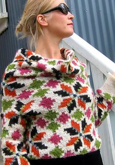 garter stitch intarsia from Iceland