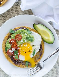 These Huevos Rancheros Tostadas with Avocado Salsa Verde are the ultimate breakfast, brunch or brinner recipe! Super quick and easy to make. My whole family loves these!