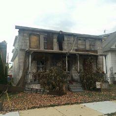 great Halloween house facade