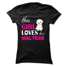 This Girl Loves Her Maltese - NZ3 - #novio gift #zip up hoodie. CHECK PRICE => https://www.sunfrog.com/Pets/This-Girl-Loves-Her-Maltese--NZ3-Black-gg5p-Ladies.html?id=60505
