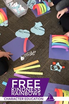 Brighten up someone's day with this bright and fun rainbow craft. This free craft has students writing kind words to show that they care. It'll make the perfect activity for your character education lesson.