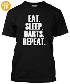 Eat Sleep Dart Repeat T Shirt Darts Player Geschenk Verschiedene Farben und Größen T Shirt T-Shirt - Herren Schwarz, Klein S Geschenks Darts tops player eat sleep dart (*Partner-Link)