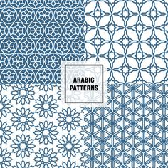 Cheerful arabic patterns Free Vector                                                                                                                                                     More