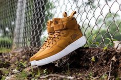 Nike SF Air Force 1 MID Leather Pueblo BrownDark Russet 917753 202