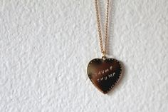HEART BEAT NECKLACE by LONELYARTSCLUBGOODS on Etsy, $55.00