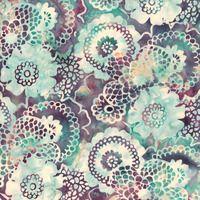 ROSE LACY FLOWERS BATIK FABRIC