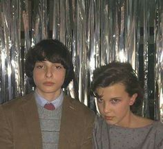 """Finn Wolfhard and Millie Bobby Brown by Joe Keery at the set of """"Stranger Things Stranger Things Actors, Stranger Things Aesthetic, Stranger Things Funny, Stranger Things Season, Stranger Things Netflix, Joe Keery, Millie Bobby Brown, Celebs, Celebrities"""