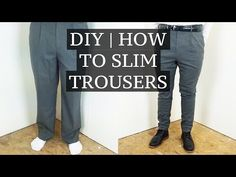 Easy way to take in the waist of pants (No cutting, no machine) Make it Monday - YouTube